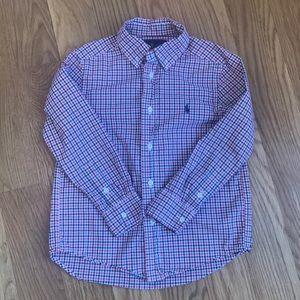 Ralph Lauren Boys Long Sleeve Polo. Size 5.